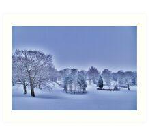 Frozen At Day Break ~ Peel Park ~ Art Print