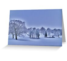Frozen At Day Break ~ Peel Park ~ Greeting Card