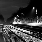 Down on the Train Station at Midnight by David Chadderton