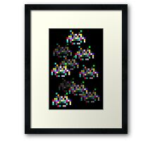 Space Invaders are Coming Framed Print