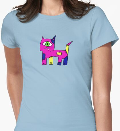 Ugly Cat Womens Fitted T-Shirt