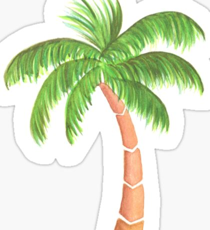 Tropical Palm Tree - Watercolor Sticker
