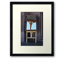 Mirror, mirror, on the veranda Framed Print