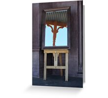 Mirror, mirror, on the veranda Greeting Card