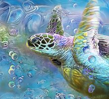 Sea Turtle - Spirit Of Serendipity by Carol  Cavalaris