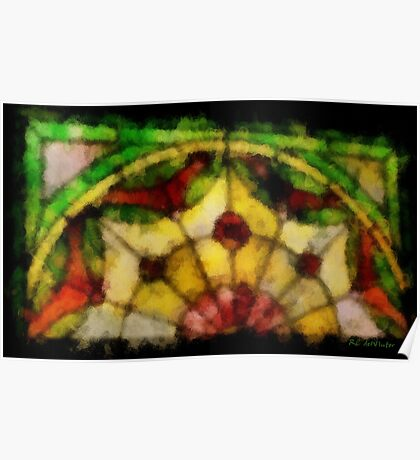Dream of a Stained Glass Window Poster