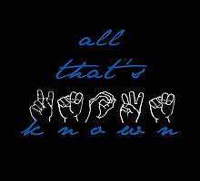 All That's Known- Spring Awakening ASL by divaree