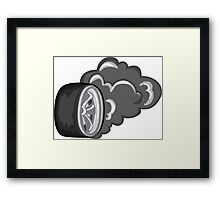 One wheel peel Framed Print