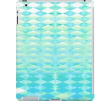 Aqua Watercolor With Ombre Harlequin Pattern iPad Case/Skin