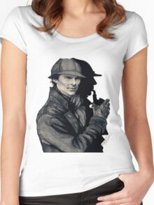 The One and Only Sherlock Holmes (5% OFF) Women's Fitted Scoop T-Shirt