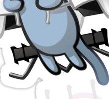 Meowtin Jetpack Sticker