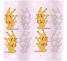 pink pikachu Poster