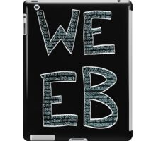 Blue Binary Weeb Graphic iPad Case/Skin