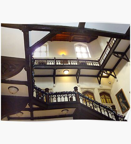 Grand Gothic Staircase Poster