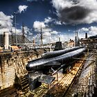 Ocelot Submarine Historic Dockyard Chatham Kent by Robert Radford