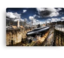 Ocelot Submarine Historic Dockyard Chatham Kent Canvas Print