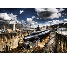 Ocelot Submarine Historic Dockyard Chatham Kent Photographic Print