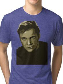 Captain Kirk with transparent background (Star Trek) Tri-blend T-Shirt