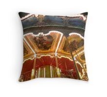 Roundy-round the carousel Throw Pillow