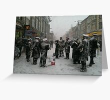 Snowing in Southend Greeting Card