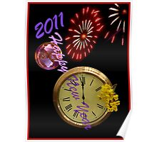 Happy New Year Red Bubble Poster