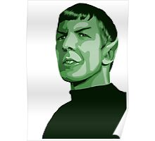 Spock with transparent background Star Trek TOS Poster