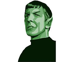 Spock with transparent background Star Trek TOS Photographic Print