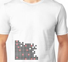 black and red square Unisex T-Shirt