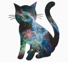 Tarantula Nebula Less Red   Space Kitty by SirDouglasFresh
