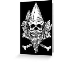 Gnome Skull Greeting Card