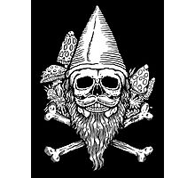 Gnome Skull Photographic Print