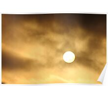 Sun in the clouds Poster