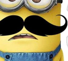 Funny Minions Moustache Sticker