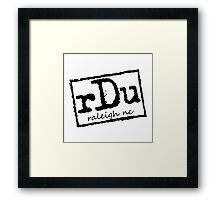 RDU (Raleigh) Black Framed Print
