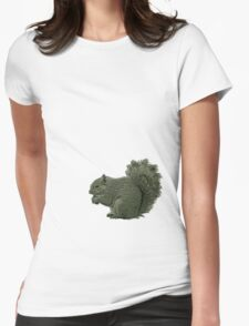 Nutty Squirrel Showdown Womens Fitted T-Shirt