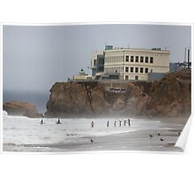 Blow Hole on North Beach, SF Poster