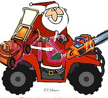 Santa with his goodies by hilarydougill