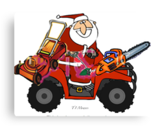 Santa with his goodies Canvas Print