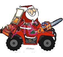 Santa with his goodies Photographic Print