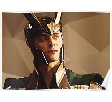 Loki, Prince of Asgard - Low Poly Vector Poster