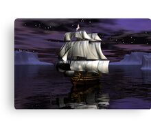 HMS Victory - Starry Night Canvas Print