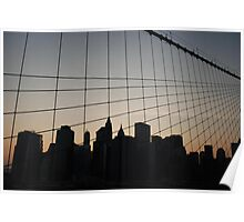 downtown, from brooklyn bridge Poster