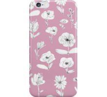 Summer garden - old fashioned rose iPhone Case/Skin