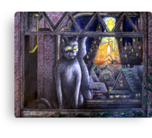 STARLIGHT STARBRIGHT CAT  Canvas Print