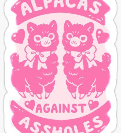 Alpacas Aginst Aholes  Sticker