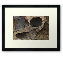 Blow Hole off North Beach, San Francisco Framed Print