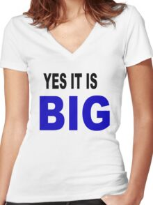 Yes it is big Women's Fitted V-Neck T-Shirt