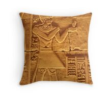 A Carving and Cartuches inside the Kalabasha Temple Throw Pillow
