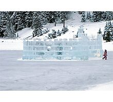 Ice Castle In Winter Photographic Print