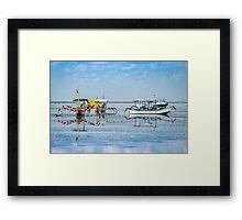 Sanur Boat Reflection Framed Print